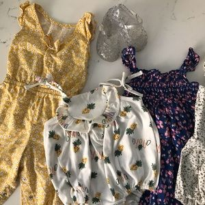 Baby Girl Summer Outfit bundle 6-12mo